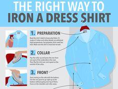 How to iron a dress shirt properly... #Noblehouse #CustomTailor #men #DressShirt