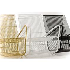 Wire rocker, steel mesh & powder coated color. Powder Coat Colors, Steel Mesh, Beds, Wire, Storage, Furniture, Home Decor, Purse Storage, Decoration Home