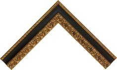 """Frame Width: 2.625""""Collection: Ruvo Style(s): Classic Ornate Color: Gold Black Frame #: 808005"""