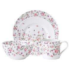 Royal Albert New Country Roses 4 Piece Place Setting in Rose Confetti - High Tea on Joss & Main