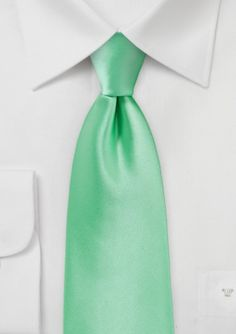 Bright Mint Green Necktie - $9.90