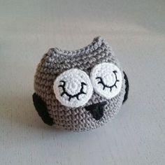 crochet owl, virkad uggla, amigurumi