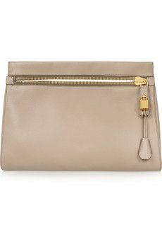 Tom Ford Alix medium textured-leather clutch | NET-A-PORTER