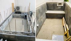 Auto-construction piscine pas cher : voici un bassin qui coûte 1 500 € Mini Pool, Swimming Pools Backyard, Garden Pool, Swimming Pool Construction, Rooftop Design, Jacuzzi, Home Projects, House Design, Design Design