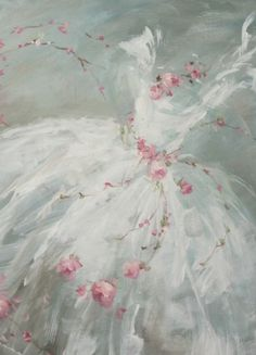 """Tutu with Roses on Teal"" by Debi Coules"