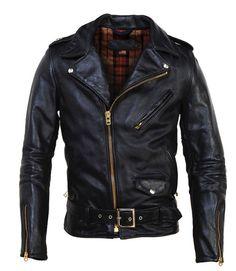 "Buh. indigofinch: "" Schott Horsehide Perfecto Assymetrical Motorcycle Jacket """