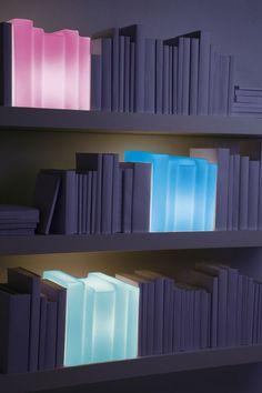 lámpara de mesa de diseño (vidrio soplado, hecha a mano) BIBLIO MULTICOLOR LIGHT 22 22 EDITION DESIGN