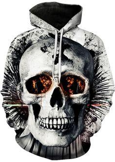 2019 New Hoodies Man Skull Print Animal Men's Hoody Sweatshirt Hip Hop Hoodies Pullover Tops hoody Streetwear Skull 3d, Skull Face, Skull Hoodie, Skeleton Hoodie, Fall Jackets, Street Outfit, Hip Hop, Looks Cool, Sweat Shirt