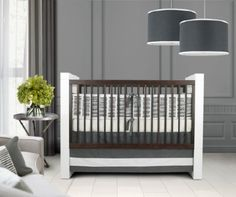 Sticks Gray 3 piece baby bedding