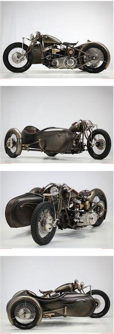 HARLEY DAVIDSON SIDECAR-1942 Harley-Davidson Model U