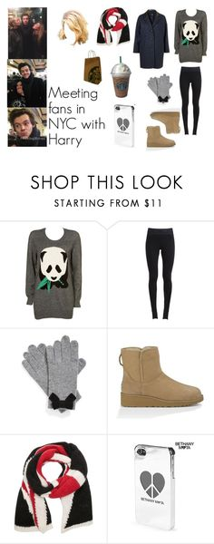 """Meeting fans in NYC with Harry"" by tayler-dukes ❤ liked on Polyvore featuring GET LOST, Panda, NIKE, Topshop, Kate Spade, UGG Australia, Alexander McQueen, Aéropostale, Joes and OneDirection"