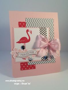 Hope You Can Cling to 2014.  Today's CAS Challenge a touch of Pink.  Maybe it's a bit more than a touch, but it's pink.  http://stampingcountry.typepad.com/stamping_country/2014/10/stampin-up-tickled-pink.html