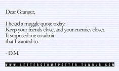 Dear Granger...