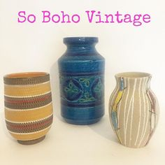 """Listing these fabulous #sobohovintage #midcentury #Italian #ceramic #vases over on the eBay store today ! #bitossi #fratellifanciullacci  #midcenturyceramics #qualitymidcenturyhomewares #midcenturyhome #midcenturydesign #design #vintagehomewares #vintagehome #interiordesign #forsale"" Photo taken by @vintagelynz on Instagram, pinned via the InstaPin iOS App! http://www.instapinapp.com (05/10/2016)"