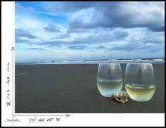 Charleston Cheers!   #Charleston #wine #ocean #sunset
