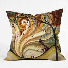 Madart Inc. Out West Throw Pillow | DENY Designs Home Accessories