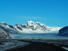 First view of the Vatnajökull ice cap and one of its glaciers from the road. Photo by If The World Told A Story
