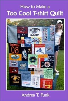 Long Distance Relationship Gift: T Shirt Quilt. Chances are, your girlfriend sleeps in one of your shirts. So this Christmas, let her sleep with all of your shirts by giving her a T-Shirt Quilt. Or vice versa :) Sewing Hacks, Sewing Crafts, Sewing Projects, Diy Projects, Sewing Art, T-shirt Quilts, Rag Quilt, Recycling, Old T Shirts