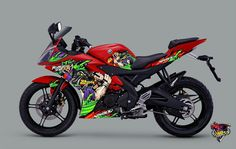 Yamaha r15 cutting sticker buldogs theme