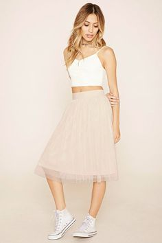 Mesh A-Line Skirt
