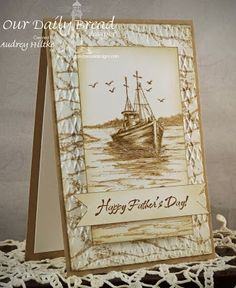 Audrey's Paper Garden Inspirations: Waves on the Sea Father's Day - Amazing idea!!