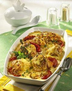 Unser beliebtes Rezept für Putenmedaillons auf Tomaten mit Sahne und mehr als 55.000 weitere kostenlose Rezepte auf LECKER.de.