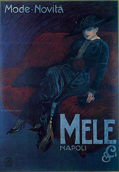 Mele& C.i , mode - novità,  Napoli - Marcello Dudovich