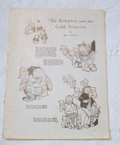 The Kewpies and the Cold Princess Illustrated story pages by Rose O'Neill - 1918 Good Housekeeping by dandelionvintage, $20.00