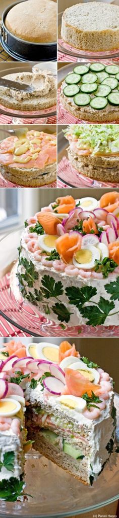 this is the traditional swedish sandwich cake. usually we serve it at graduation parties etc. always a huge hit :)