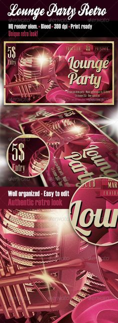 Lounge Flyer Template  Flyer Template Print Templates And Fonts