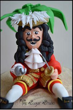 Handmade Captain Hook, Peter Pan cake topper