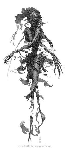 GHOST  From the Arcane Codex book Goremound by Nackter Stahl Publishing.