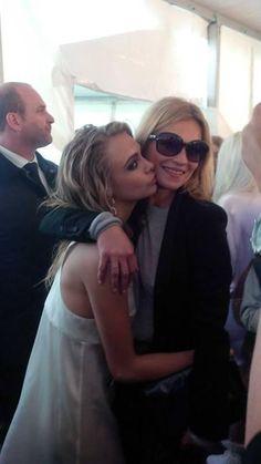 Kate Moss and Cara Delvingne @ Topshop Unique