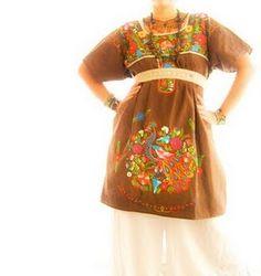 Vestidos mexicanos bordados  4