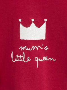 #kids mummy's little queen crown graphic