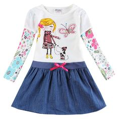 Awesome Baby Girl Dress long sleeve kids dresses for girls clothes Nova Floral Baby Girl Dress Kid Girl Dresses 2016 children clothing - $20.49 - Buy it Now!