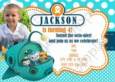 Octonauts Birthday Invitation DIY Digital Printable Party