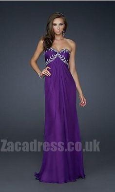 $141.99 - Cheap Strapless La Femme 17148 Chiffon Formal Dresses