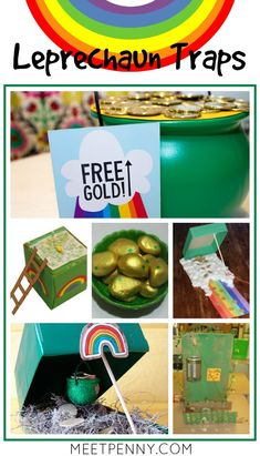 Love creating a little mischief on St Patrick's Day with DIY leprechaun traps