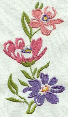 We post free embroidery designs every day. All types of free machine embroidery designs available - animal, holiday, floral, alphabets, and more! Learn Embroidery, Vintage Embroidery, Embroidery Applique, Embroidery Stitches, Embroidery Supplies, Free Machine Embroidery Designs, Bordado Floral, Embroidery Techniques, Fabric Painting