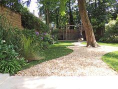 Really Nice Gardens: Belsize Backyard Garden Landscape, Terrace Garden, Garden Spaces, Backyard Landscaping, Back Gardens, Small Gardens, House Extension Design, Tiered Garden, Garden On A Hill