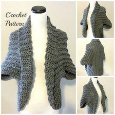 CROCHET PATTERN  Crochet Shrug Pattern Chunky Shrug by OnTheHook
