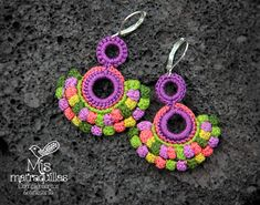 https://flic.kr/p/EUECwZ | Pendientes de Crochet | Pendientes realizados a crochet - Crochet earrings ganchilo pendientes artesania complementos matraquillas mismatraquillas earrings handmade jewelry