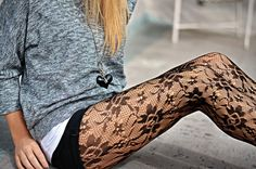 lace stockings with shorts
