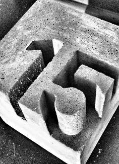 House Numbers, Design, Master Houses, Bauhaus, Dessau (Cool Art Dark) - All About Concrete Cement, Concrete Furniture, Concrete Crafts, Concrete Projects, Concrete Design, Concrete Cloth, Cement Art, Poured Concrete, Cement Tiles