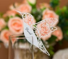 Laser Cutting Love Birds Place Cards For Wedding Bomboniere Favors,Multcolor in Home & Garden, Wedding Supplies, Invitations & Stationery Wedding Places, Wedding Place Cards, Wedding Table, Wedding Reception, Tie The Knot Wedding, Our Wedding, Garden Wedding, Wedding Ideas, Wedding Stationary