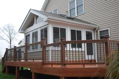 Three Season Porch Design Ideas | Timbertech Composite deck with porch - Sunrooms Photo Gallery ...