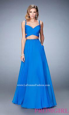 Long La Femme Sweetheart Two Piece Prom Dress Style: LF-22718