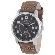 Timex Men's Expedition Metal Field Brown Leather Strap Watch Brown Leather Strap Watch, Luxury Watches, Cool Watches, Chronograph, Omega Watch, Cool Stuff, Stuff To Buy, Metal, Net Fashion