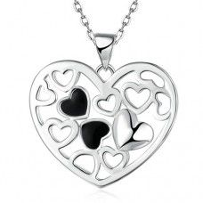 b5259f31a04e0 JEXXI New Fashion Genuine 925 Sterlings Silver Lover s Gift Jewelry Enamel Heart  Pendant Necklace Best Woman Lady Gift - Dream Jewelry Place.